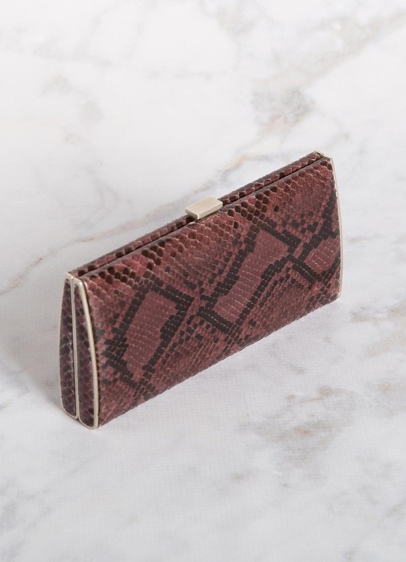 Berry Python Box Wallet, Top View - Darby Scott