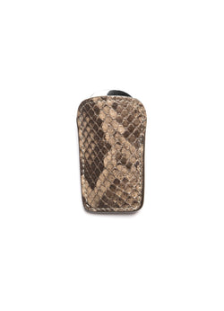 Tan Python Carrier and Stainless Steel Folding Shoe Horn - Darby Scott