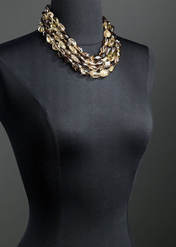 Smokey Topaz four strand necklace - Darby Scott