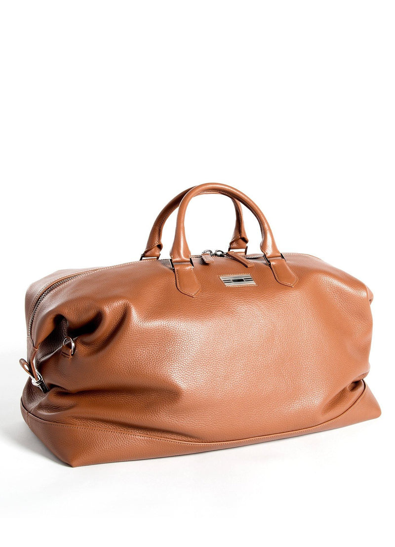 Cognac Leather Aspen Travel Bag- Darby Scott