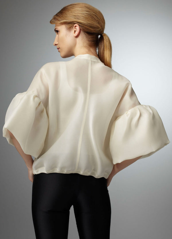 Back view model in Organza Bomber Jacket - Darby Scott--alternate