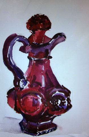 Red Glass Pitcher