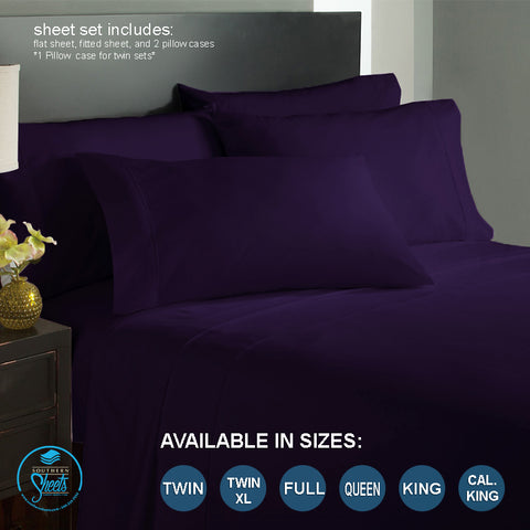 Eggplant Bed Sheets