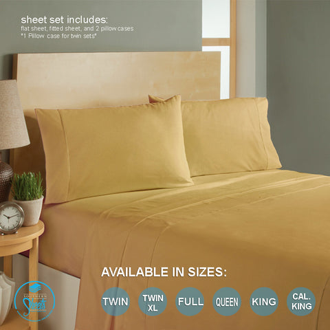 Gold Bed Sheets