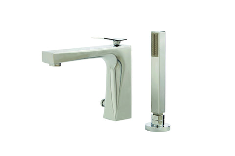 Chicane Aquabrass - 2 piece deckmount tub filler with handshower