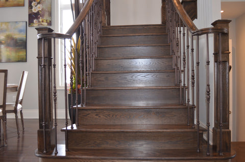 Stairs & Railings Ideal Railings - Medium Dark Stairs