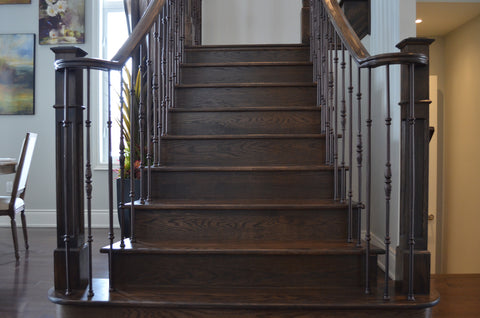 Stairs & Railings Ideal Railings - Espresso Stained Stairs