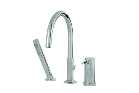Geo Aquabrass -  3 piece deckmount tub filler with handshower
