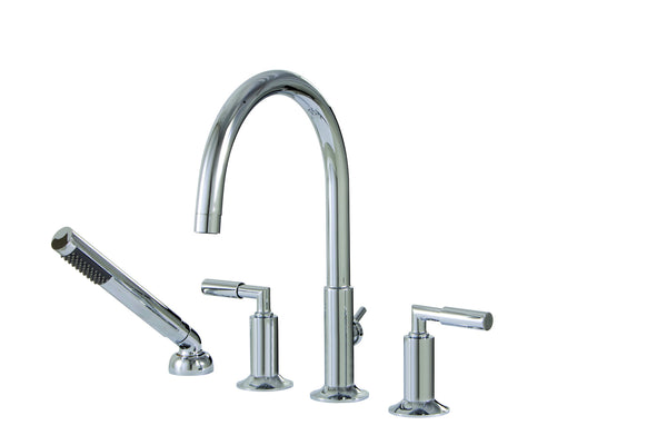 Geo Aquabrass -  4 piece deckmount tub filler with handshower