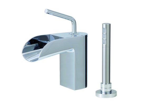 Love Me Aquabrass - 2 piece deckmount tub filler with handshower