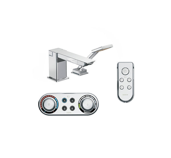90 Degree Moen - Tub Faucet, Handheld Shower