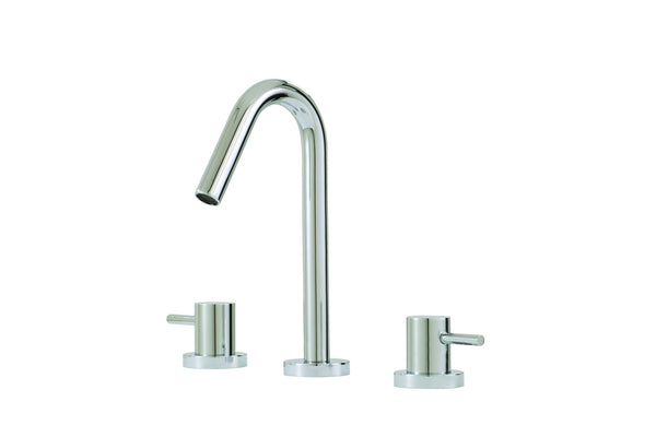 Xround Aquabrass - widespread lavatory faucet