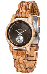 Tense Watches - Small Hampton in Zebrawood
