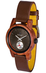 Small Leather Hampton in Rosewood with Brown Leather Strap