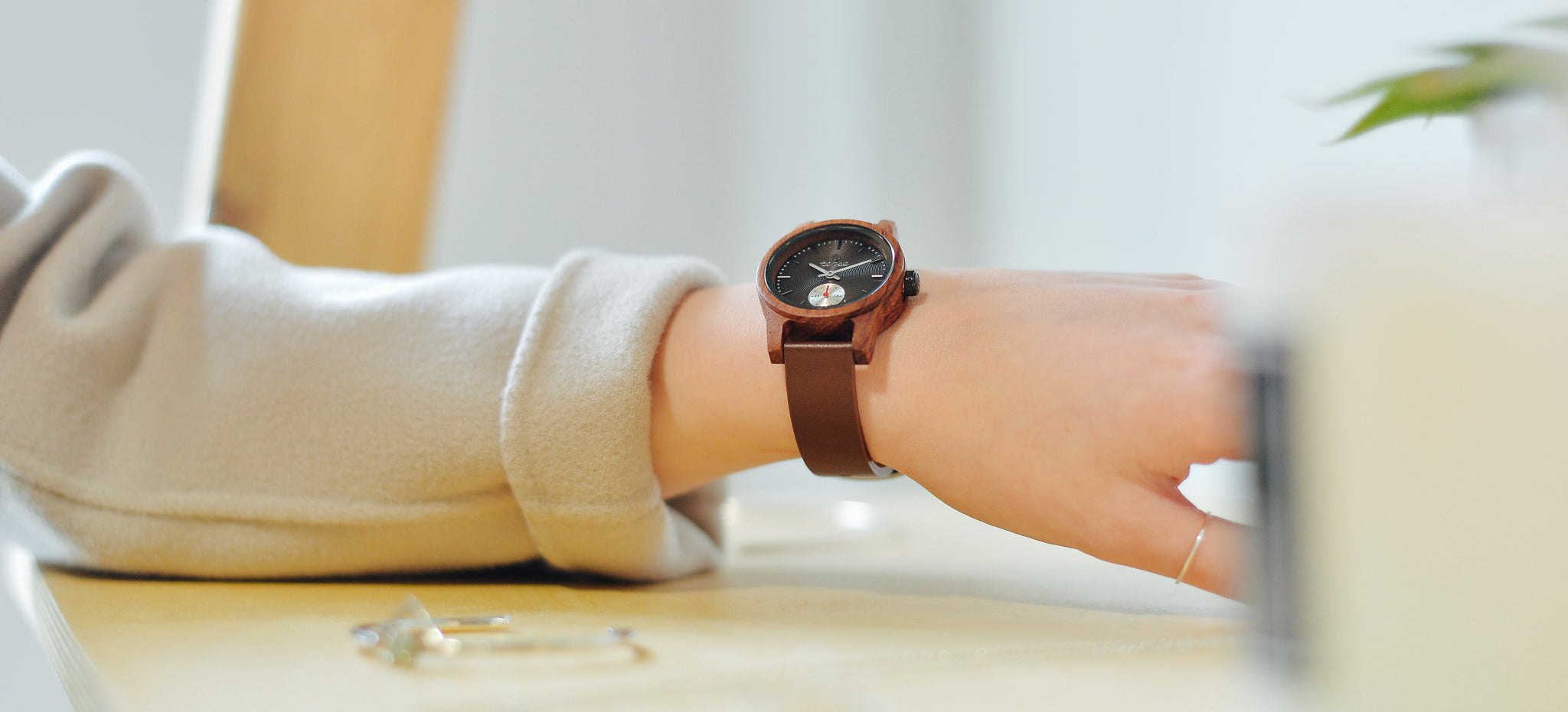Tense Watches Rosewood Wood Watch