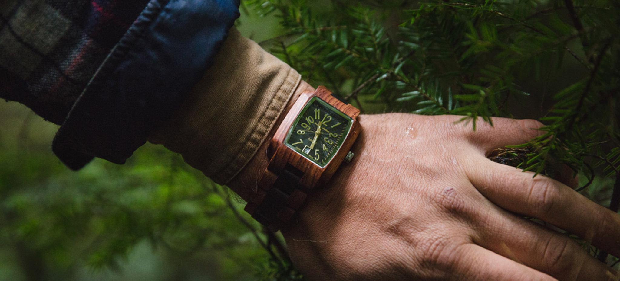 Tense Watches Rectangle Watches - The Timber Watch