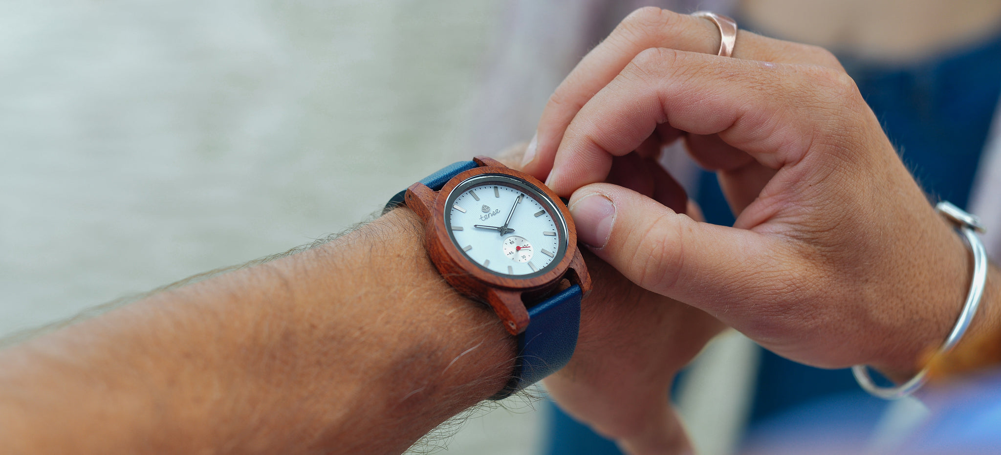 Tense Watches - Hampton Leather Watch with Navy Leather Strap