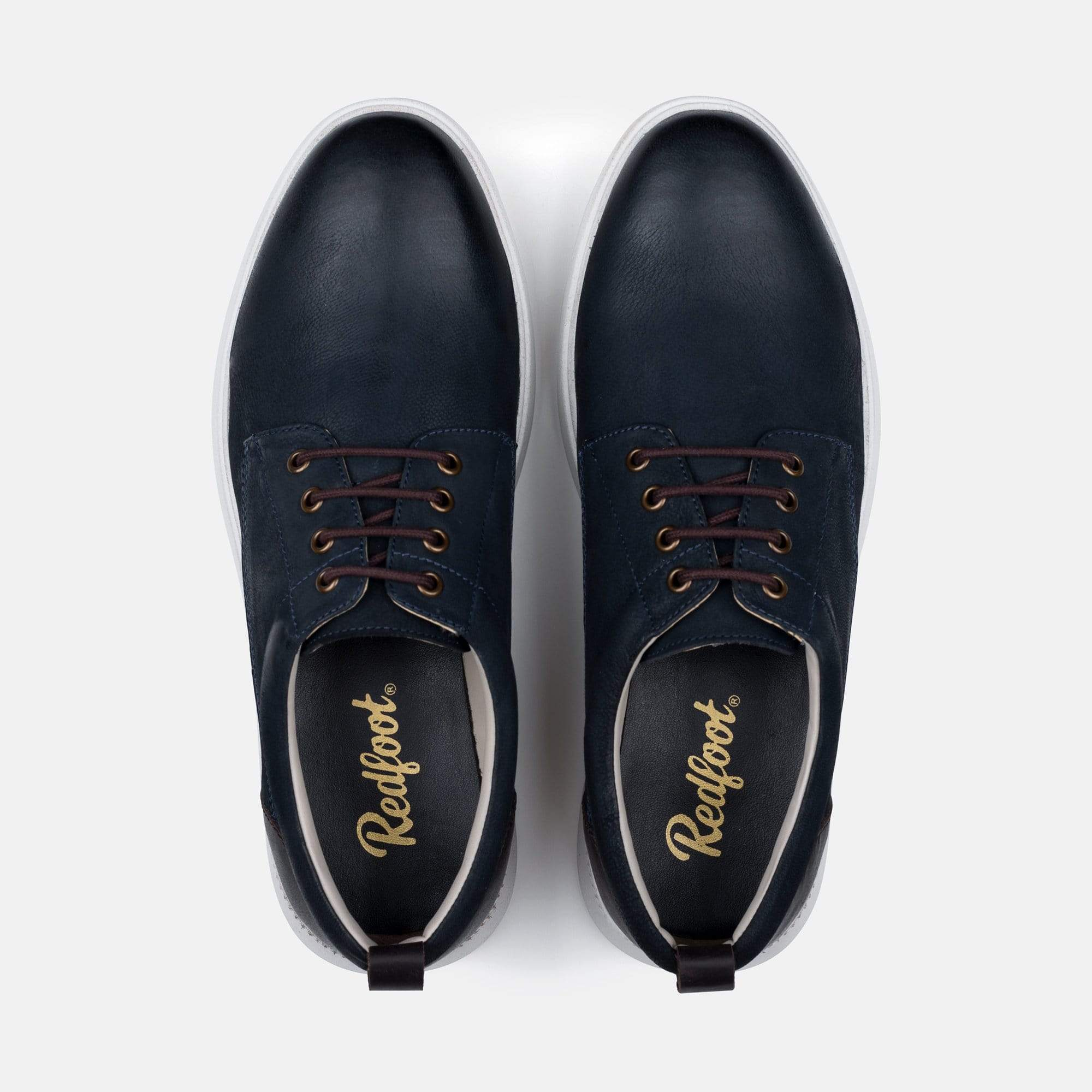 Redfoot Footwear MENS REDFOOT MOTION NAVY CASUAL DERBY BOOT