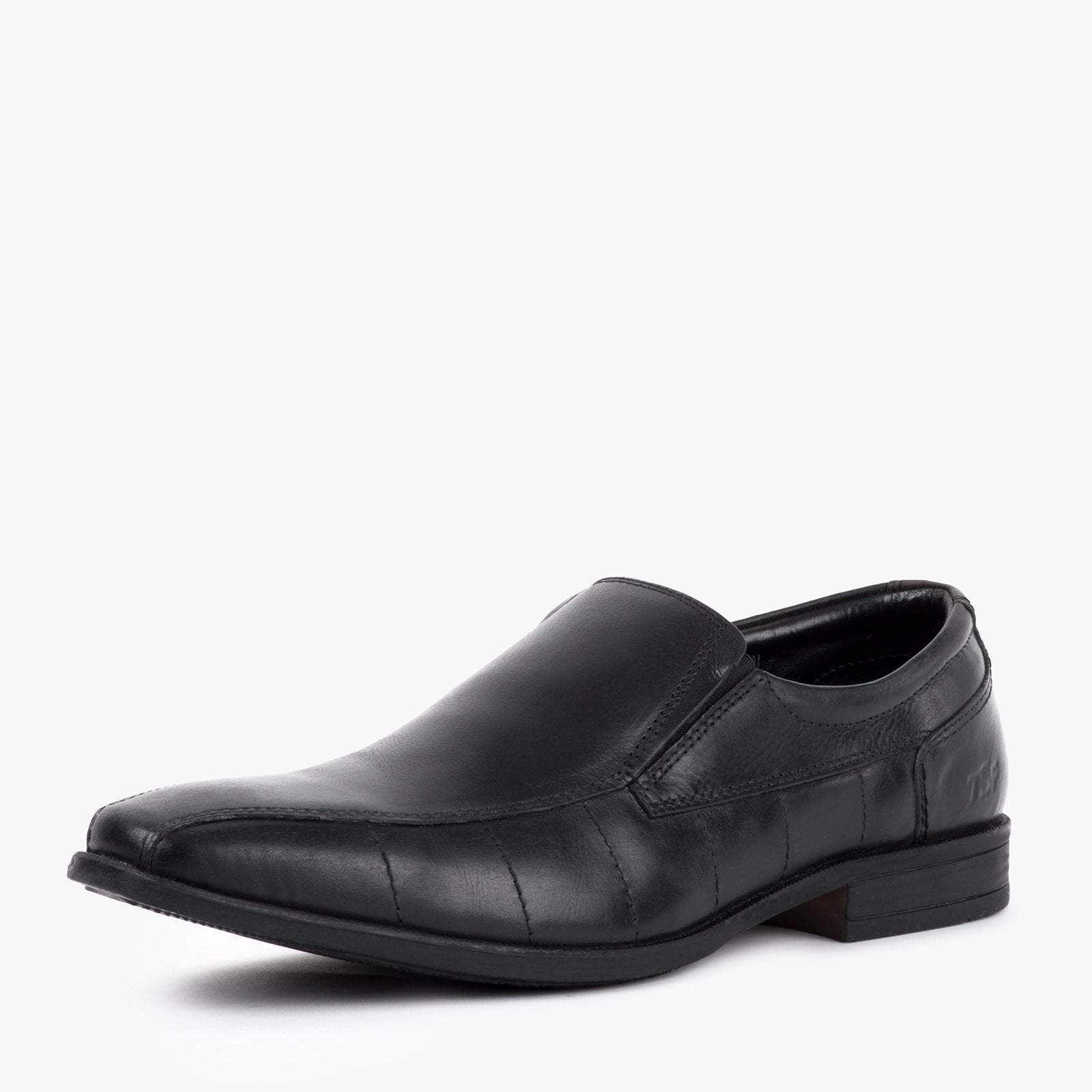 Redfoot Shoes Footwear UK 6 / EURO 39 / US 7 / Black / Leather MENS BLACK LEATHER SLIP ON
