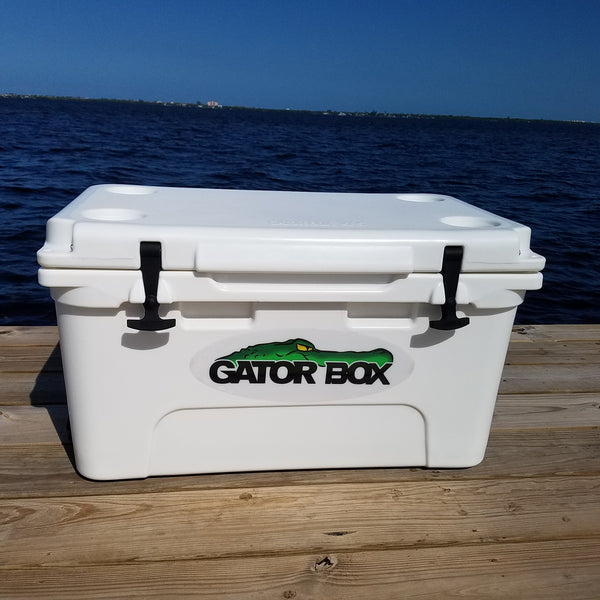 White Gator Box Cooler 45