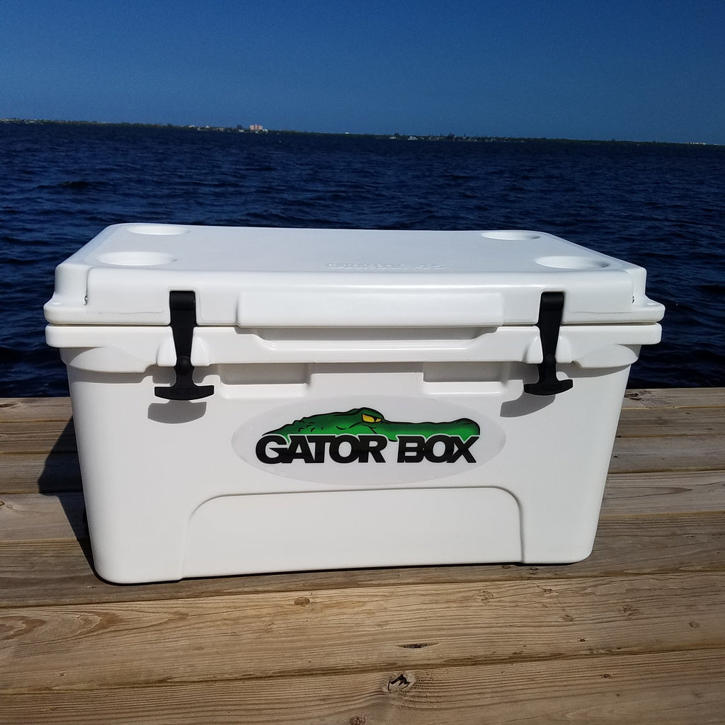 White Gator Box Cooler 65