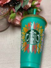 Sunflower ~ Personalized Custom Design Reusable Starbucks Cup