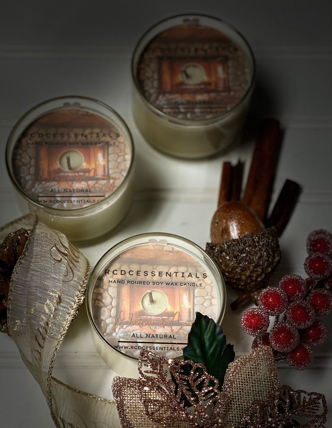 Warm & Cozy ~ Natural Hand Poured Soy Candle