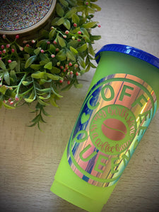 Coffee Queen~ Custom Reusable Color Changing Cup