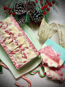 Candy Cane Lane ~ Handmade Cold Process Goat's Milk Bar Soap