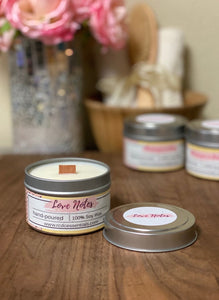 Love Notes ~ Natural Soy Wax Candle