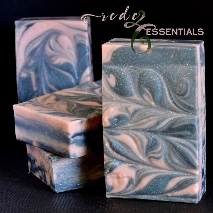 Rose Clay & Charcoal Infused~Handmade Artisan Cold Process Soap