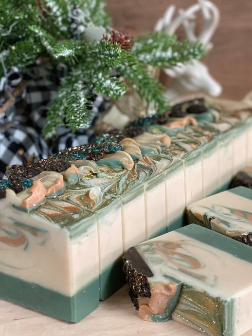Winter Woods~ Handmade Cold Process Goat's Milk Bar Soap