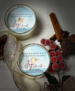 Joy To The World~ Natural Hand Poured Soy Candle