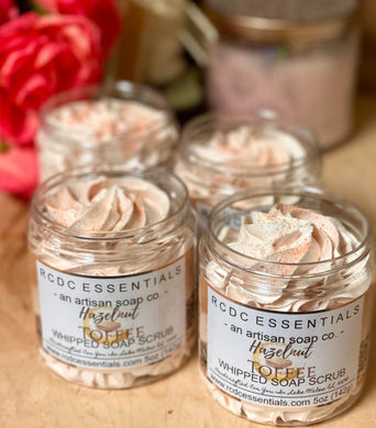 Hazelnut Toffee ~ Whipped Soap Sugar Scrub LIMITED