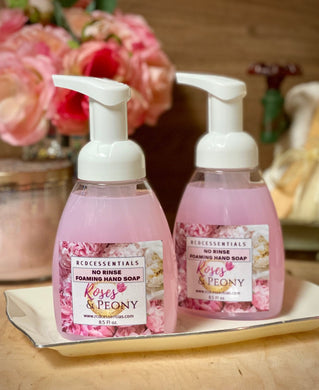 Roses & Peony ~ No Rinse Foaming Hand Wash Cleans Hands Without The Use Of Water!