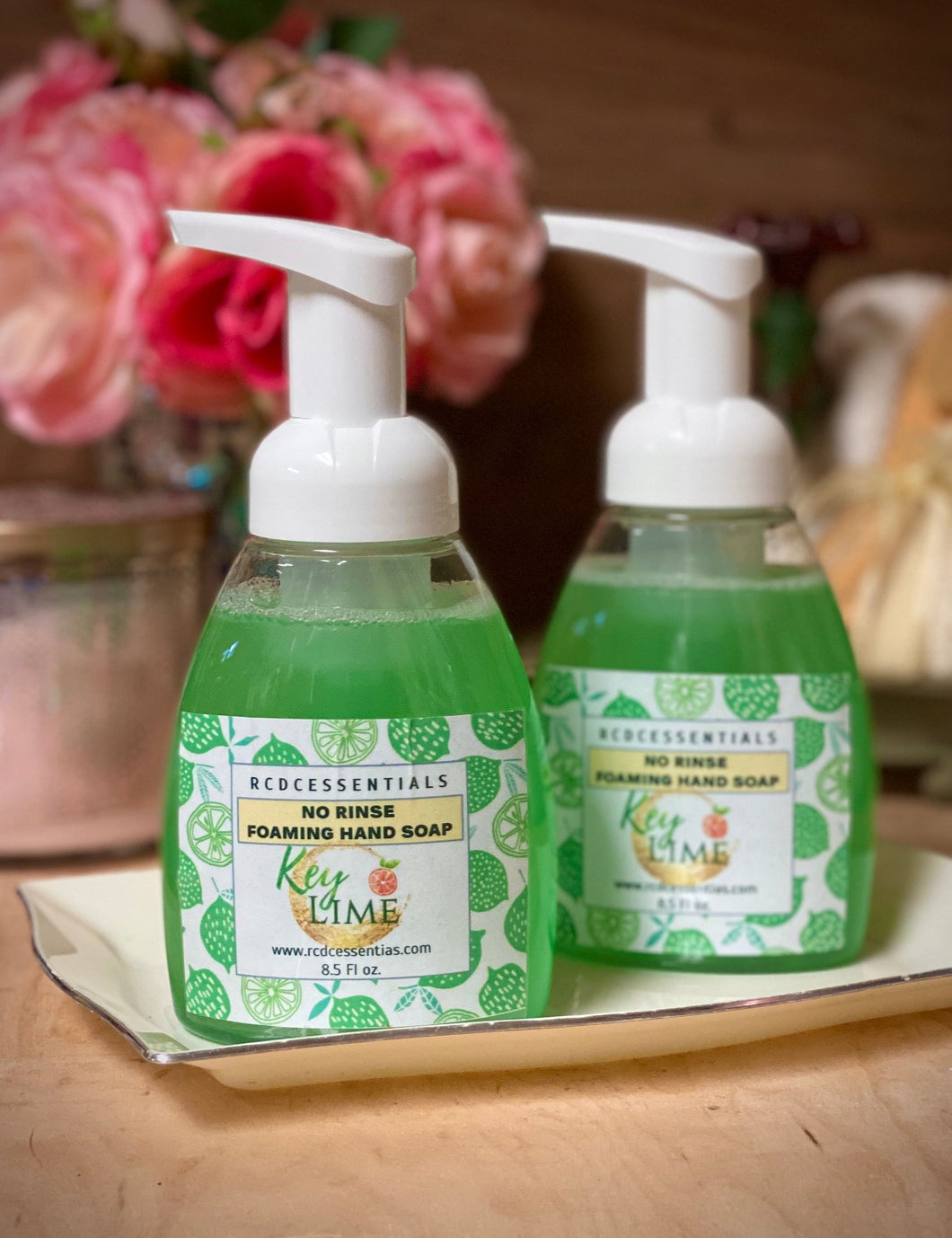 Key Lime ~ No Rinse Foaming Hand Wash Cleans Hands Without The Use Of Water!