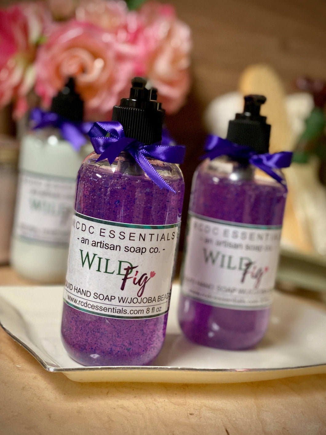 Wild Fig~ Liquid Hand Soap W/Jojoba Beads