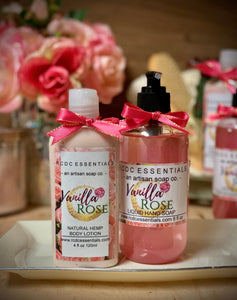 Vanilla Roses ~Liquid Hand Soap & Lotion Combo