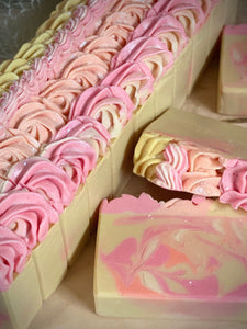Sparkling Peach ~  Handmade Cold Process Goat's Milk Bar Soap