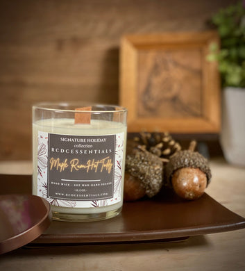 Maple R*m Hot Toddy~ Natural Hand Poured Soy Candle