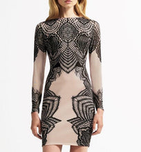 City Chic Illusion Sleeve Body-Con Dress