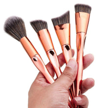 4 Pcs Rose Gold Foundation/ Powder Brush Set