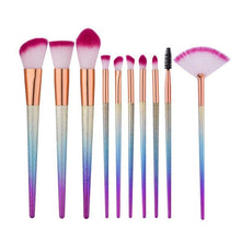 10 Pcs Rainbow Eyeshadow Brush Set