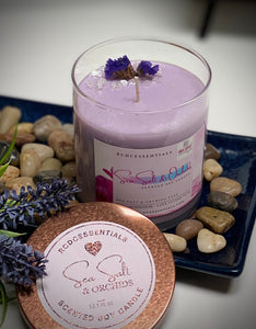 Sea Salt & Orchids ~ Natural Hand Poured Soy Candle