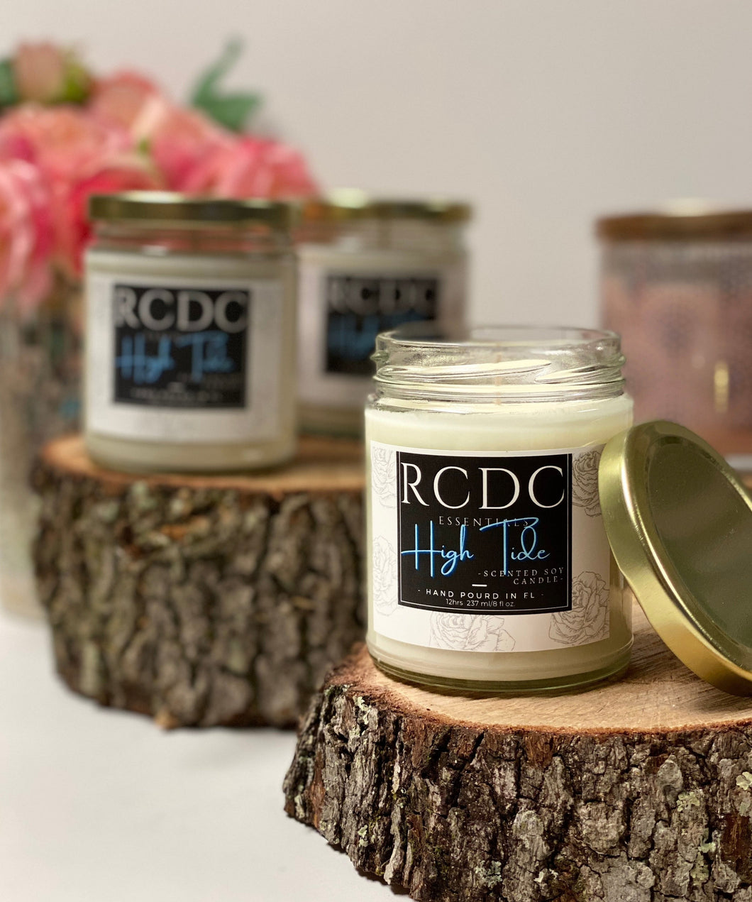 High Tide scented Natural Hand Poured Soy Candle