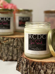 scented hand poured soy wax candle