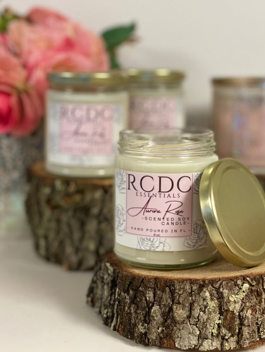 Aurora Rose ~ Natural Hand Poured Soy Candle
