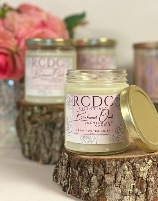 Birchwood Oud ~ Natural Hand Poured Soy Candle