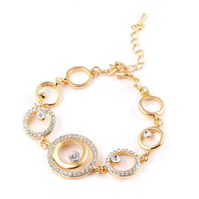 18K Gold Plated Circle Crystal Bracelet