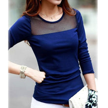 Splice Of Life mesh neckline insert top